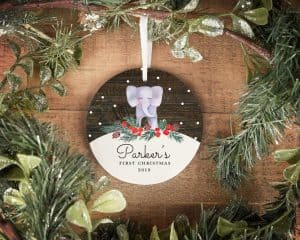 First Christmas Elephant ornament