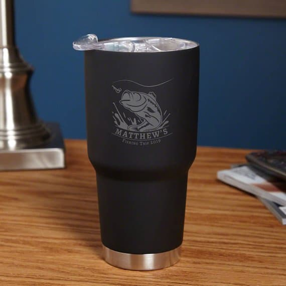 Personalized Fishing Tumbler gift for fishermen