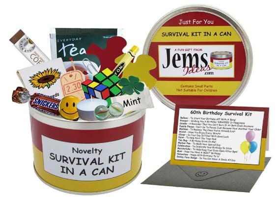 Etsy Survival Kit In A Can For 60th Birthday Gift Her