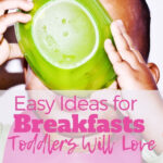 toddler eating breakfast