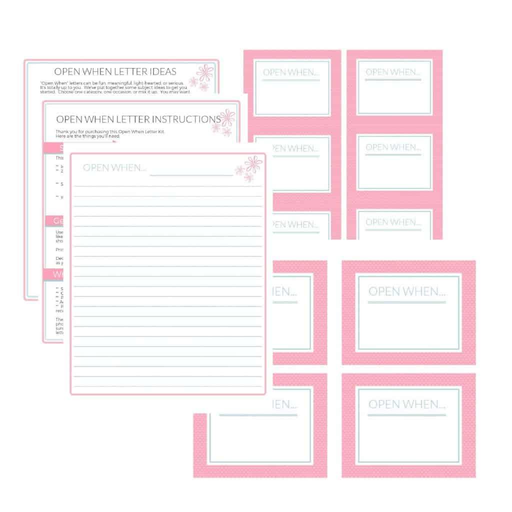 Open When Letter Kit, Pink