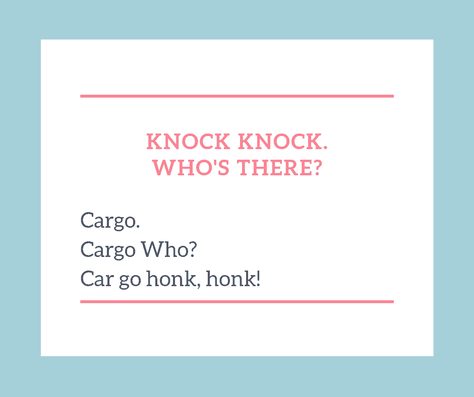 KNOCK KNOCK CAR JOKE