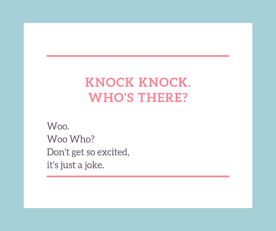 Knock knock jokes for kids -Woo