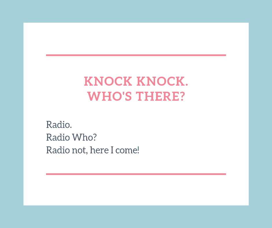 Knock knock jokes for kids radio