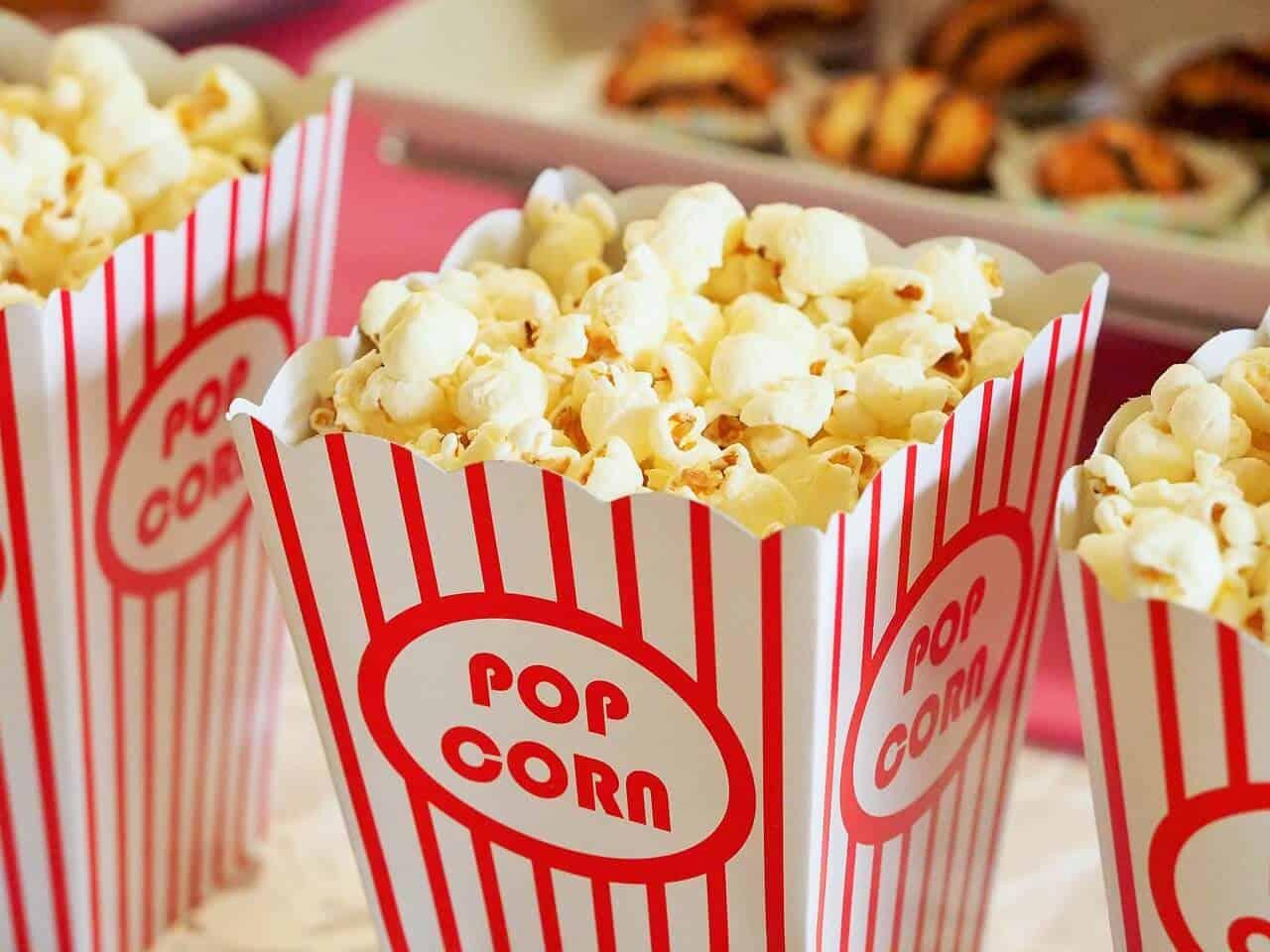 movie theatre popcorn makes me happy