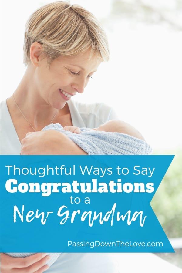Congratulations, Grandma