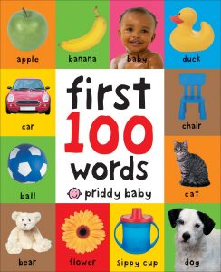 My first 100 words book for bring a book baby shower