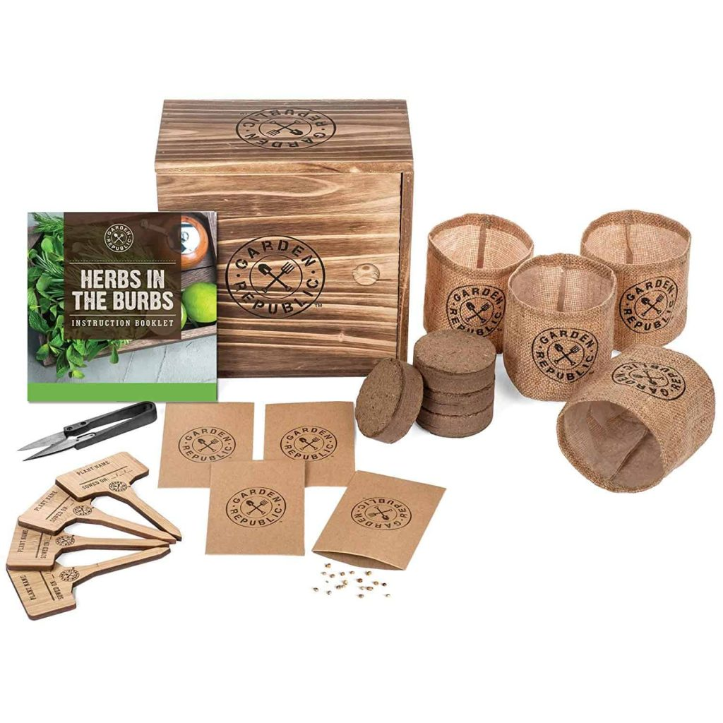 Herb garden starter kit for mothers day
