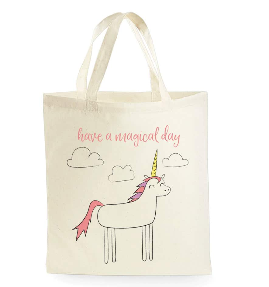Unicorn tote bag unicorn gifts for kids