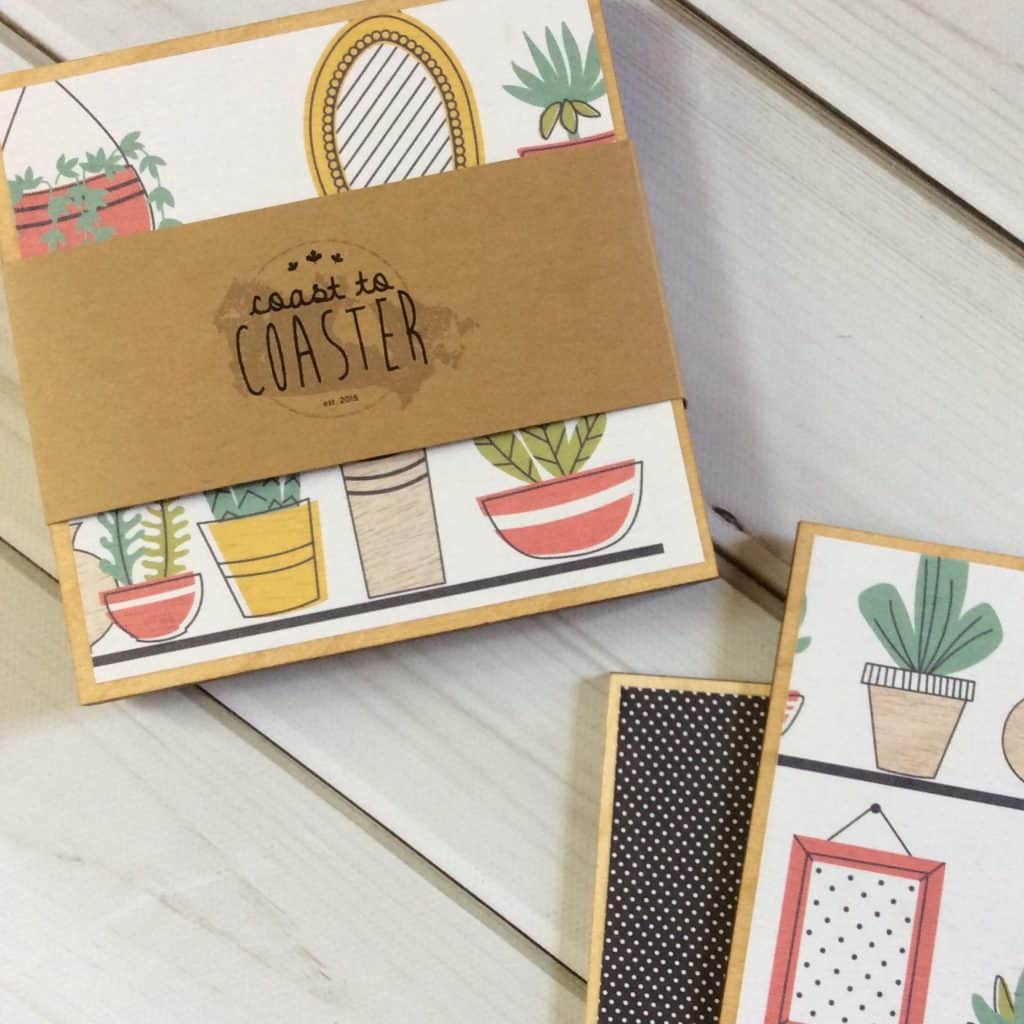 Plant Illustrations Coaster Set Mother's Day gifts for Grandma