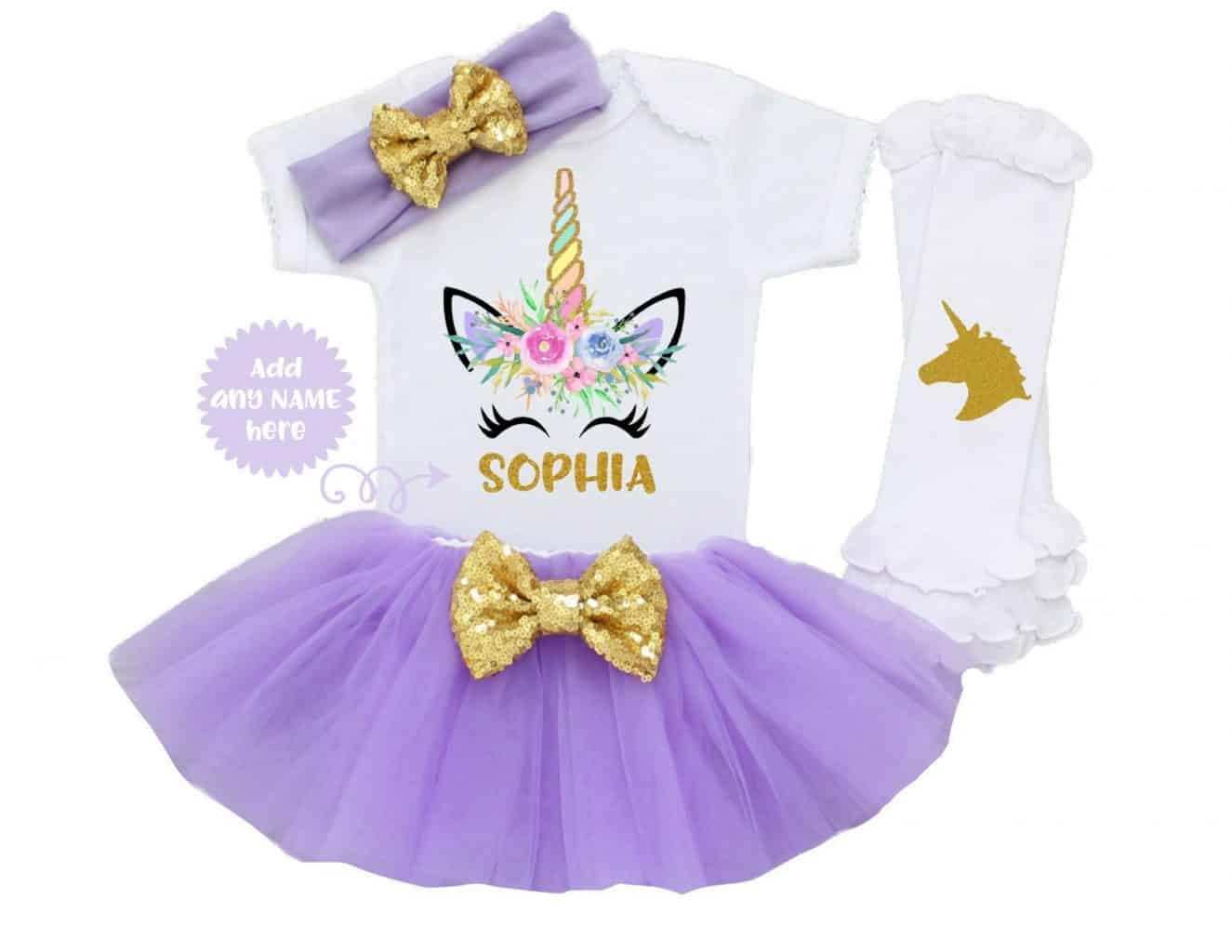personalized unicorn outfit Unicorn gifts for kids