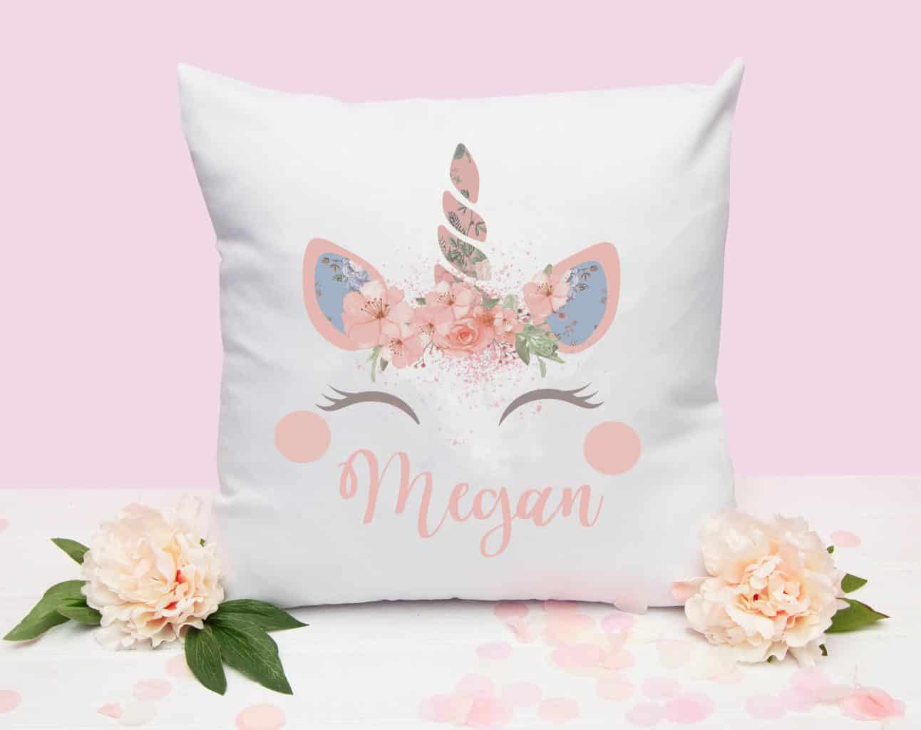 Personalized unicorn pillow Unicorn gifts for kids