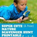 Cute nature scavenger hunt printable