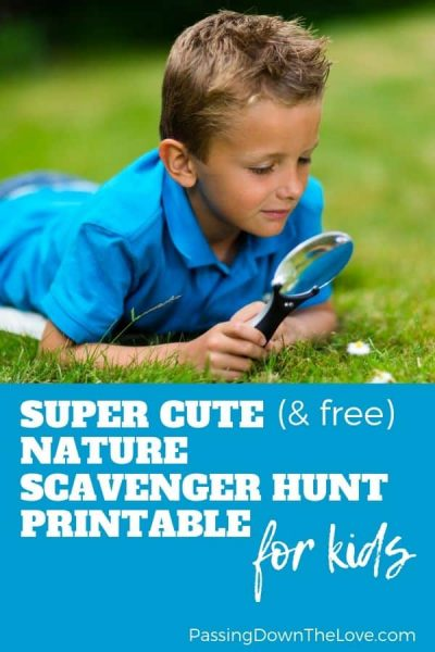 Cute nature scavenger hunt printable