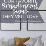 Grandparent signs pin