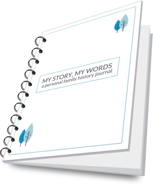 My Story My Words Personal History Journal Printable