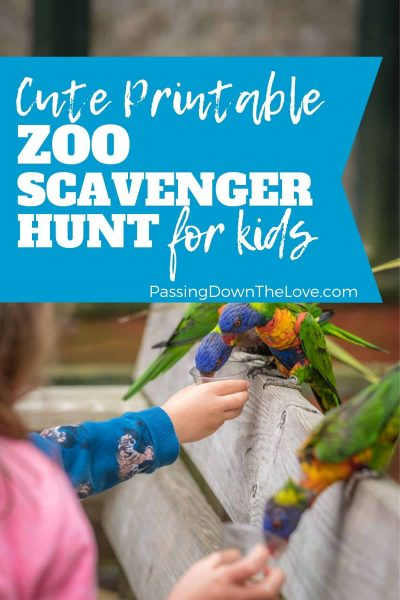 zoo scavenger hunt free printable