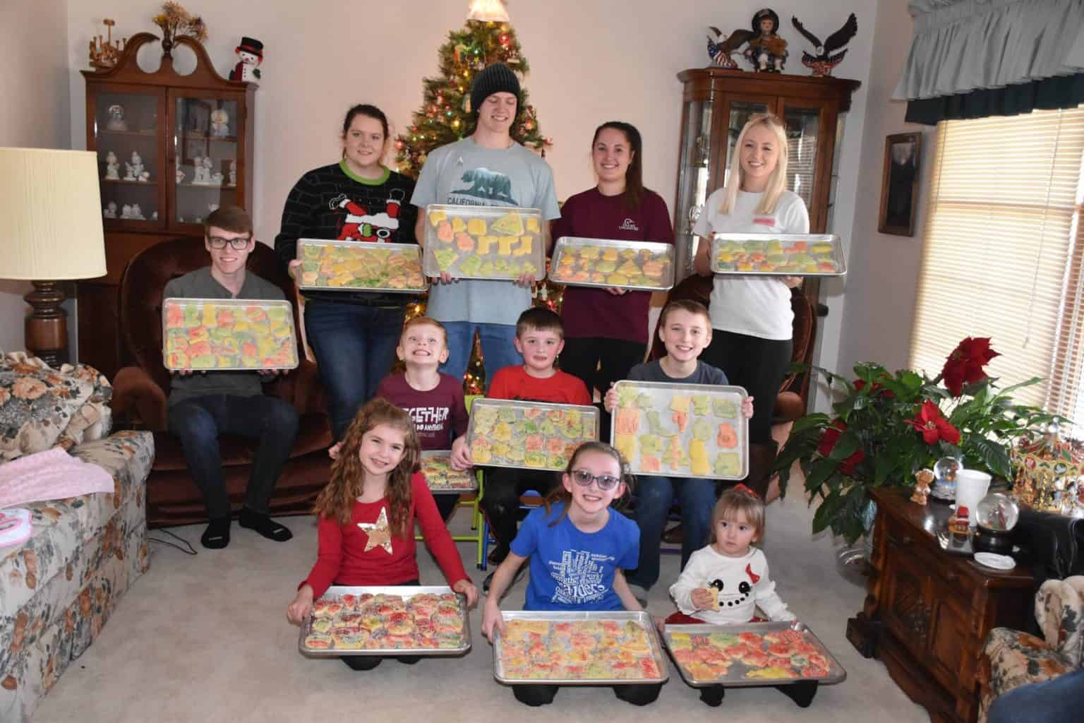 Christmas cookie baking with kids