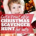 Christmas Scavenger Hunt Printable