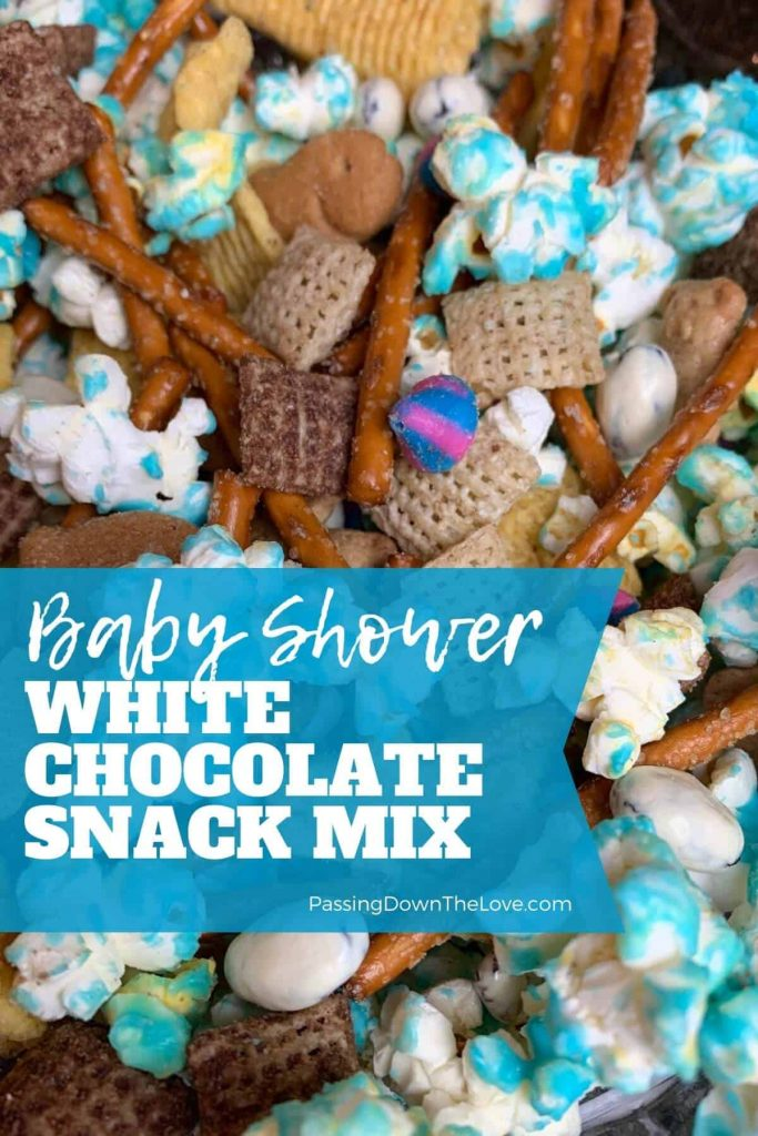 Blue Chex White Chocolate Snack Mix