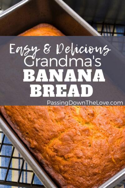 Banana bread in pan