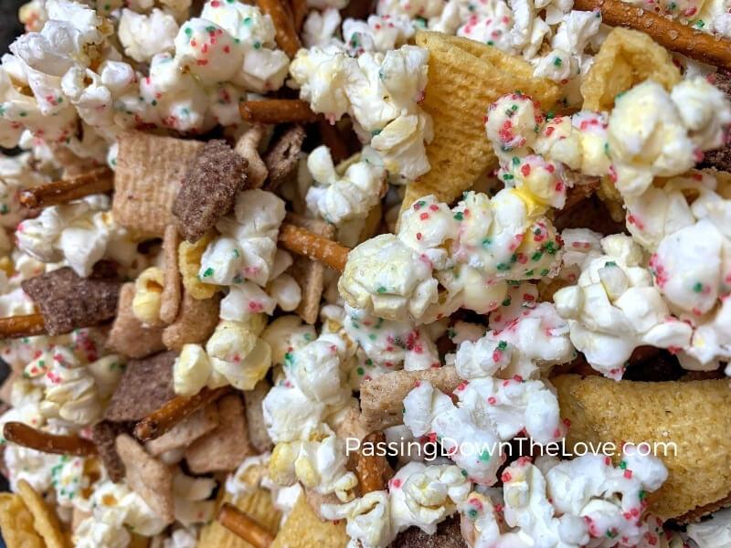Christmas snack mix, nut-free
