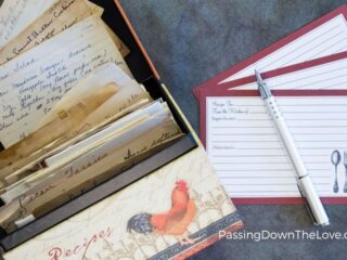 handwritten recipe gifts